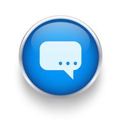 Blue talk icon vector image vector image