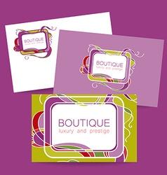 Boutique luxury prestige logo vector