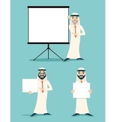 Businessman advertising sale presentation diagram vector