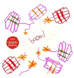 Childrens drawing vector image vector image