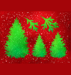 collection of christmas spruce trees and branches vector image