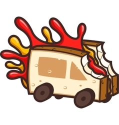 Cool Food Truck vector image vector image