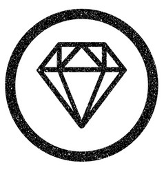 diamond rounded icon rubber stamp vector image vector image