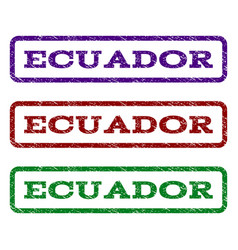 Ecuador watermark stamp vector