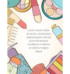 Fashion cosmetic card vector