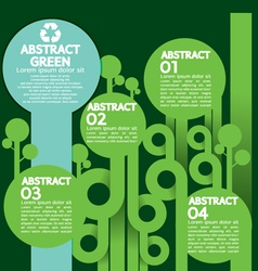 Green concept infographics vector