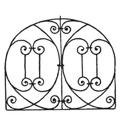 Grill panel is an italian renaissance design vector