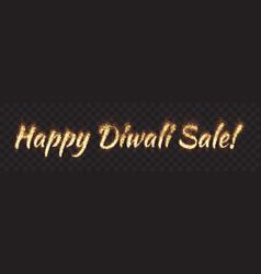 Happy diwali sale text banner vector