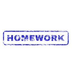 Homework rubber stamp vector