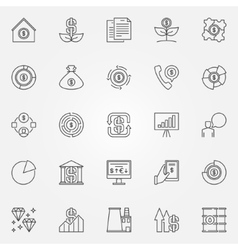 Investment and money icons vector