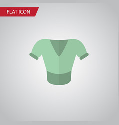 Isolated blouse flat icon casual element vector