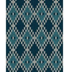 Knit woolen seamless jacquard ornament pattern vector