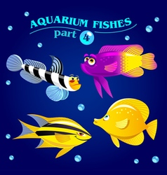 Marine aquarium fishes vector
