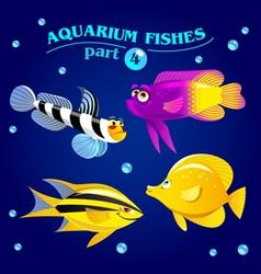 marine aquarium fishes vector image vector image