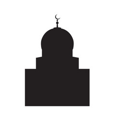 picture of a silhouette of a mosque with a vector image vector image