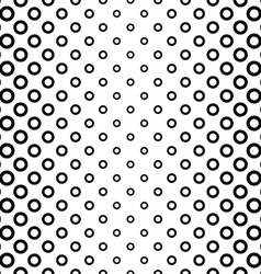 Seamless black and white ring pattern vector