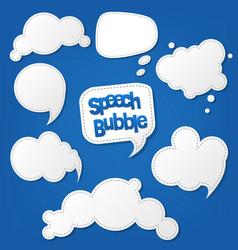 speech bubble set vector image vector image