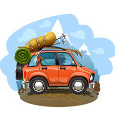 travel car vector image vector image