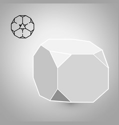 Truncated cube is a geometric figure hipster vector