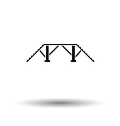 Dog training bench icon vector image