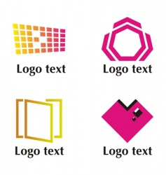 set of four logos vector image