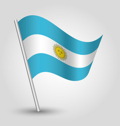 Waving simple triangle argentine flag vector