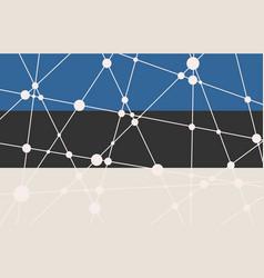 Estonia flag concept vector