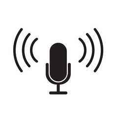 Microphone icon flat design vector
