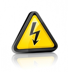 Hazard sign vector