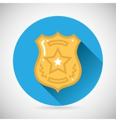 Police officer bage icon protection law order vector