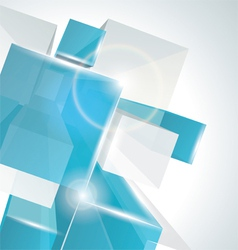 3d glass rectangles background vector image