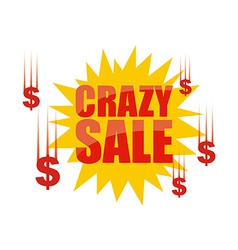 Crazy sale vector