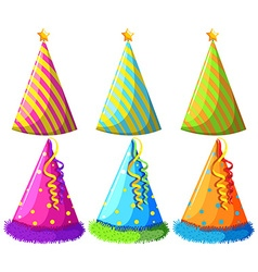 Different design of party hats vector