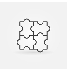 Puzzle linear icon vector
