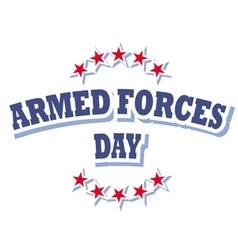 Armed forces day america logo isolated on white vector