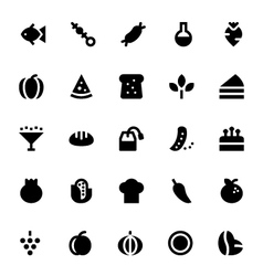 Food and drinks icons 2 vector