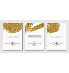 Abstract design cards set vector