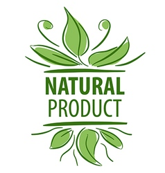 Abstract logo for natural product vector