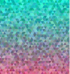 Abstract regular triangle mosaic tile background vector