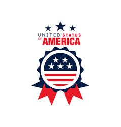 Abstract round logo of united states of america vector