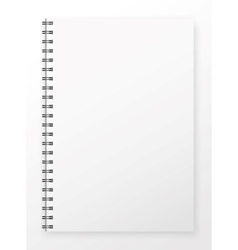 Blank notepad vector