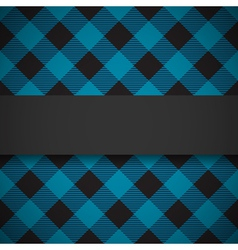 Blue tilted lumberjack plaid pattern vector image vector image