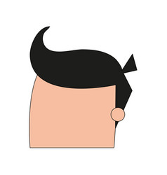 Color image cartoon faceless man with hairstyle vector