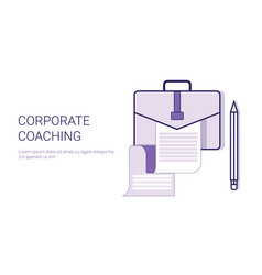 Corporate coaching mentoring trainings concept vector