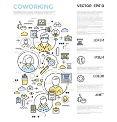 Coworking Vertical Concept vector image vector image
