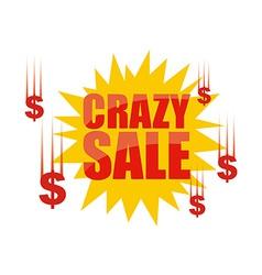 crazy sale vector image vector image