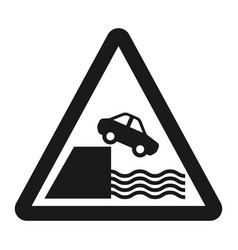 Embankment sign line icon vector