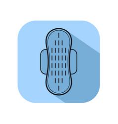 Feminine pad sanitary napkin flat icon of vector