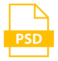File name extension psd type vector