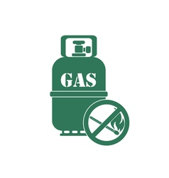 Gas bottle with no fire simbol vector
